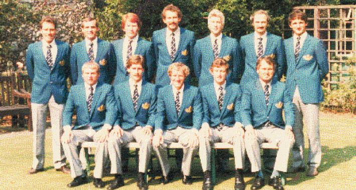 Shrewsbury CC 1983 National Knockout winning side