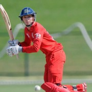 Ed Barnard bats for England in the U19 cricket world cup